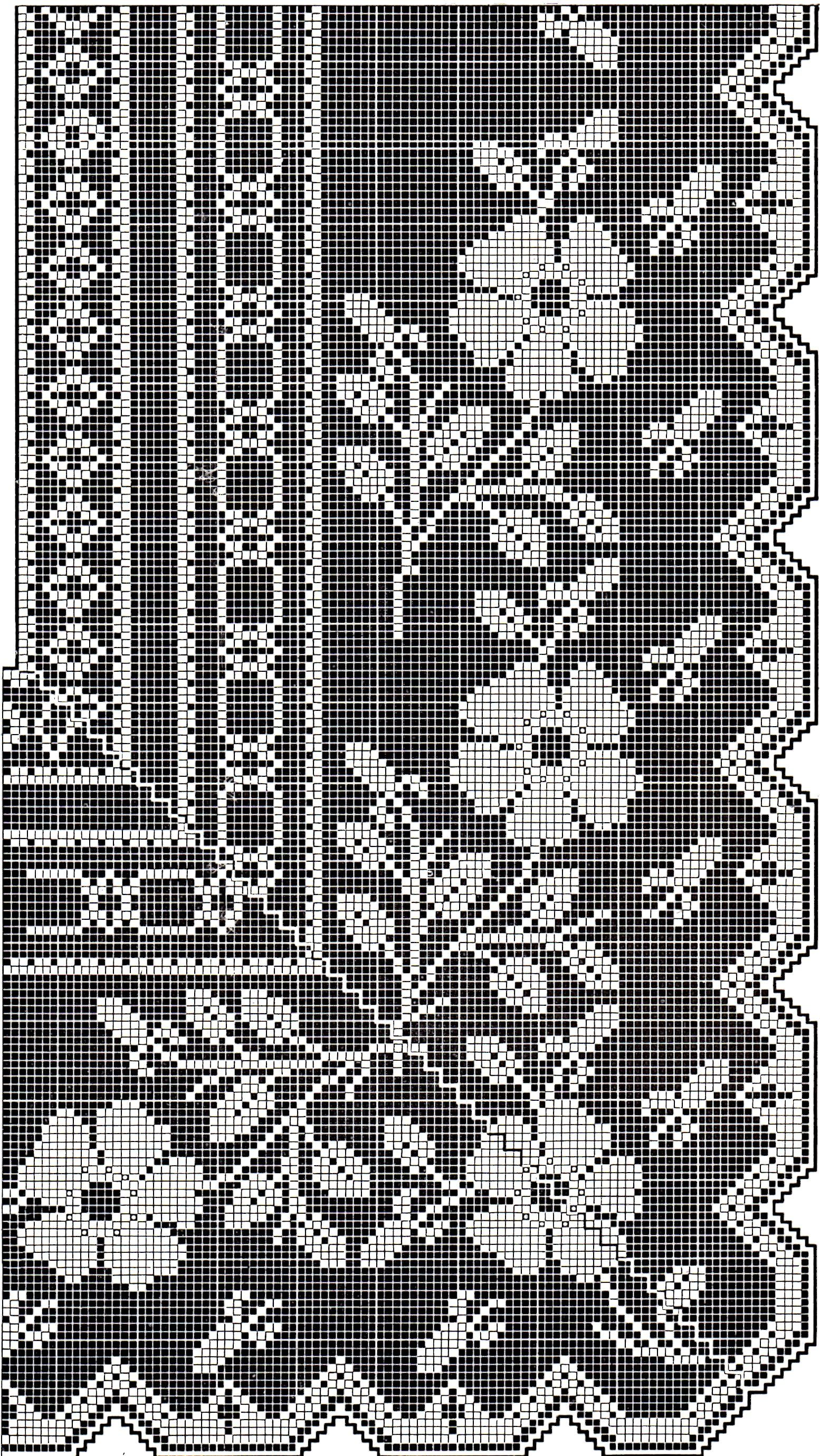 Vintage filet-crochet-pattern | Filet crochet 9 | Pinterest | Häkeln