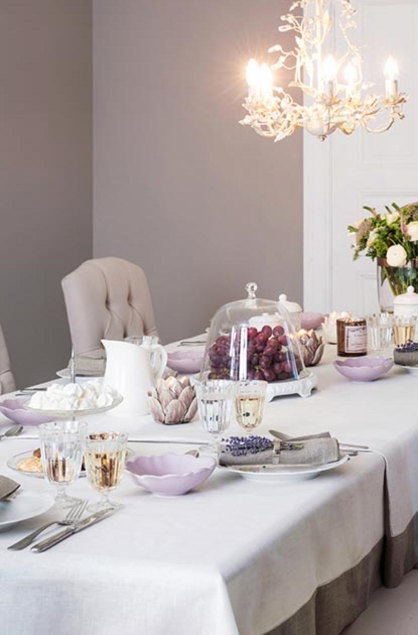 Lieblich »Provence Charme« Kronleuchter Eugenie, Schälchen Petale U0026 Tischdecke Alanta