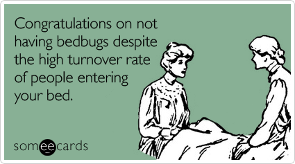 Funny Congratulations Ecard Congratulations On Not Having Bedbugs