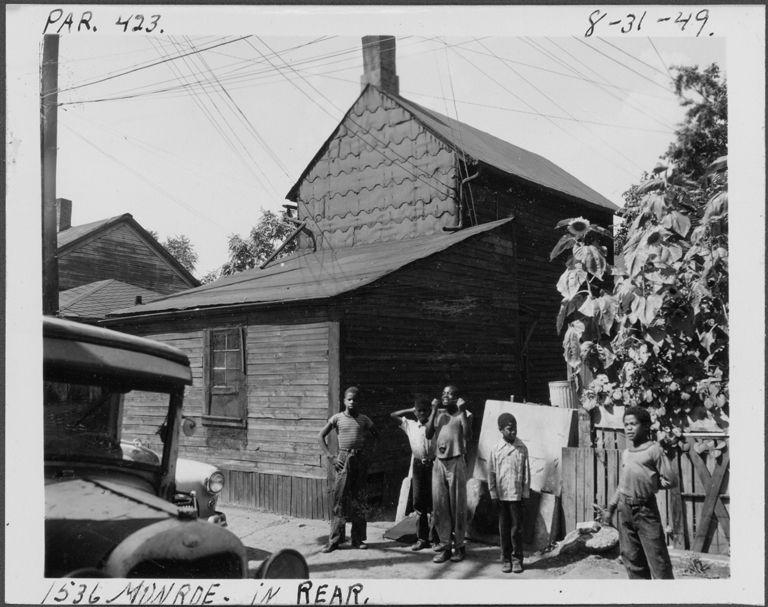 House at rear of 1536 Monroe | DPL DAMS Detroit
