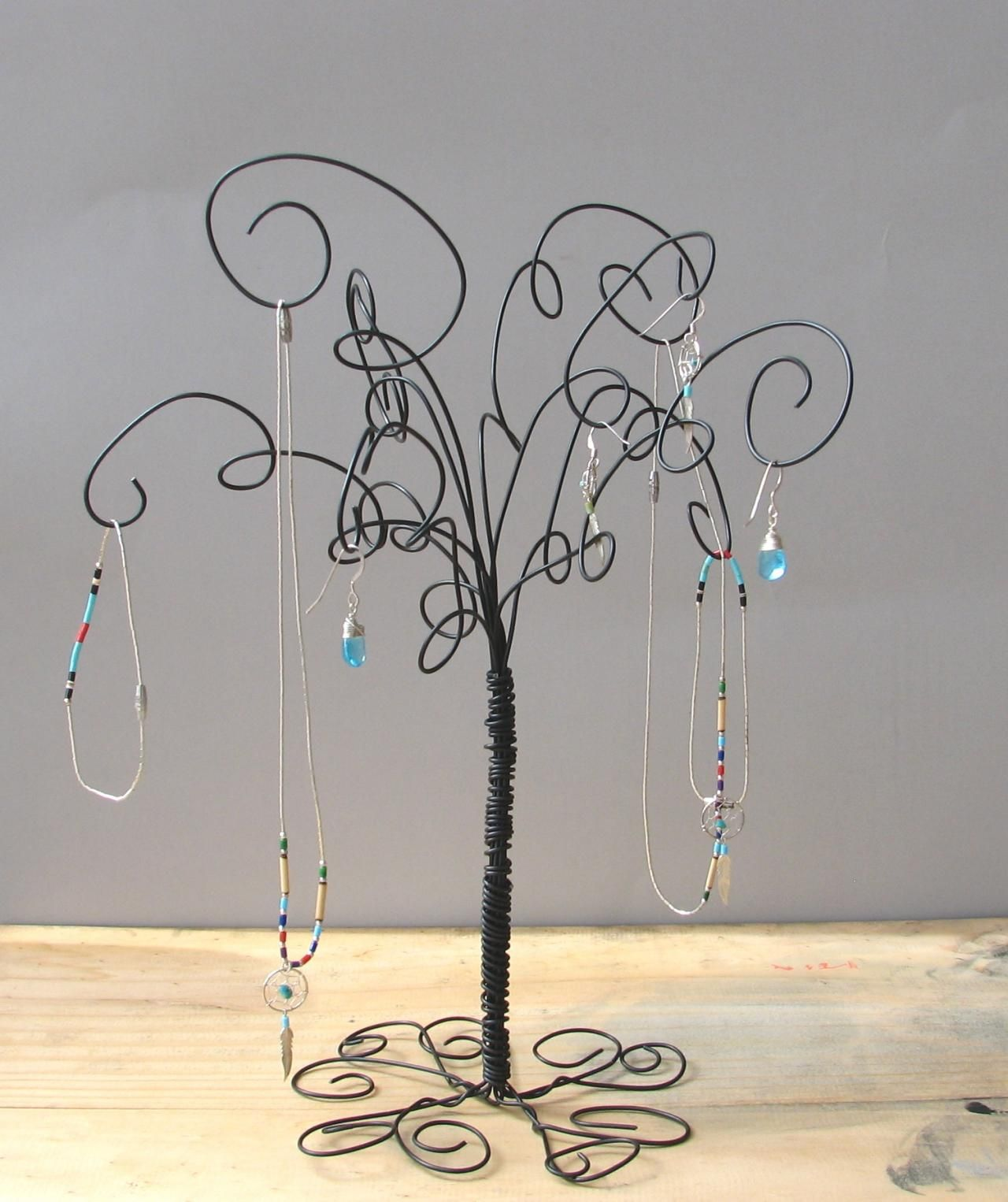 Wire Jewelry Tree Stand Earring Trees Chicken and Chicken wire