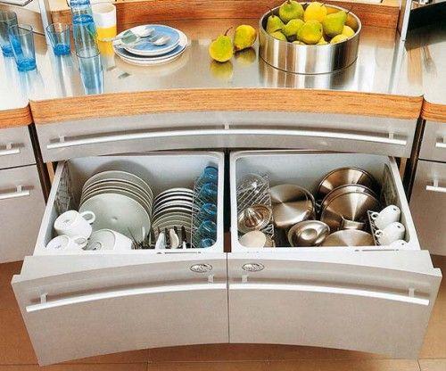 küchen ordnungssystem tellerhalter organisieren | küche ... - Schubladen Ordnungssystem Küche