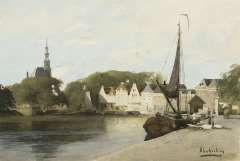 Klinkenberg J.C.K., The harbour of Hoorn, watercolour on paper 16,8 x 24,7 cm.