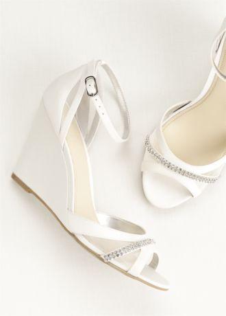 Touch Of Nina Ankle Strap Wedge Sandals Style VANDI Bridal Shoes WedgesWedge Wedding