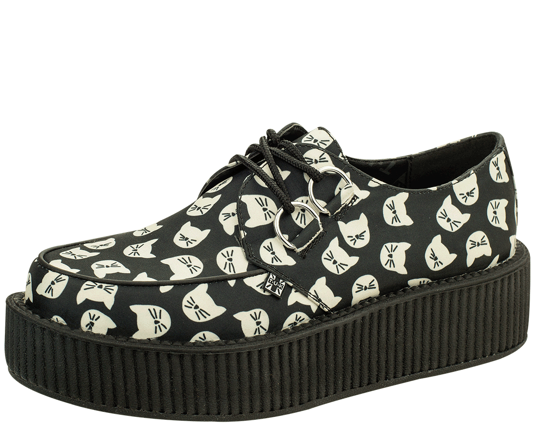 Snakers con suola alta / women ladies flat platform wedge lace up punk/ CREEPERS AxXnhedl