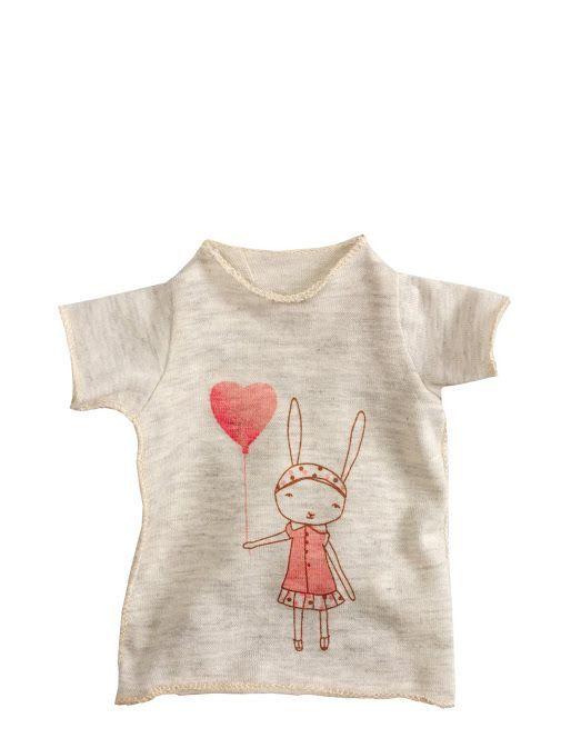 Bavlněné tričko Bunny girl - maxi | Bella Rose