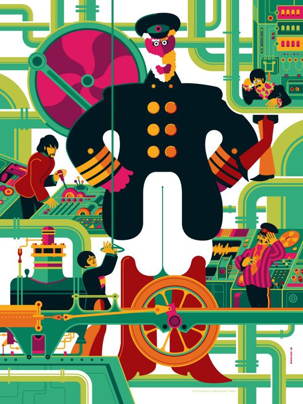 The Beatles Yellow Submarine Posters By Tom Whalen With Images