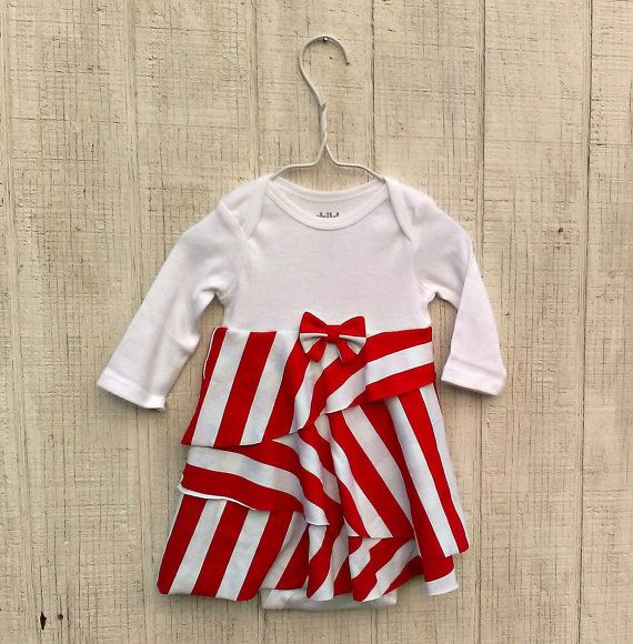 Infant Christmas Dress This Red And White Candy Cane Stripe Baby