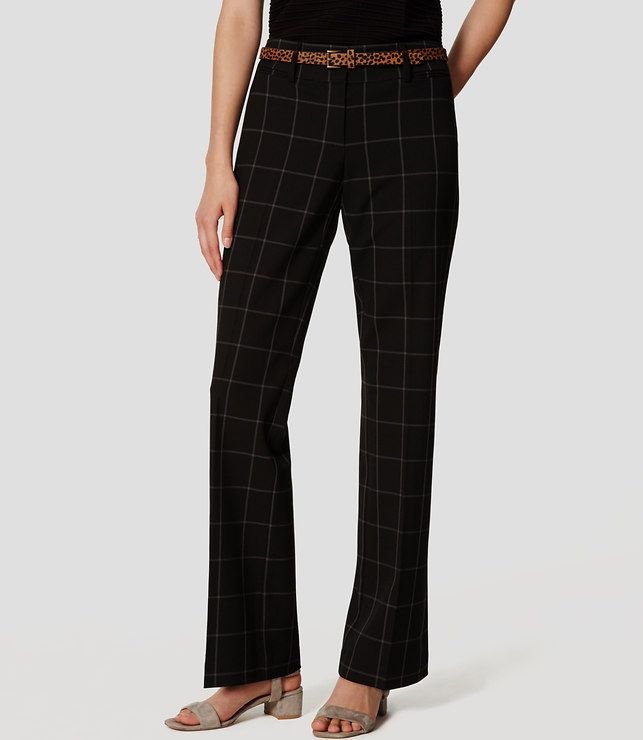Primary Image of Petite Plaid Custom Stretch Trousers in Julie Fit