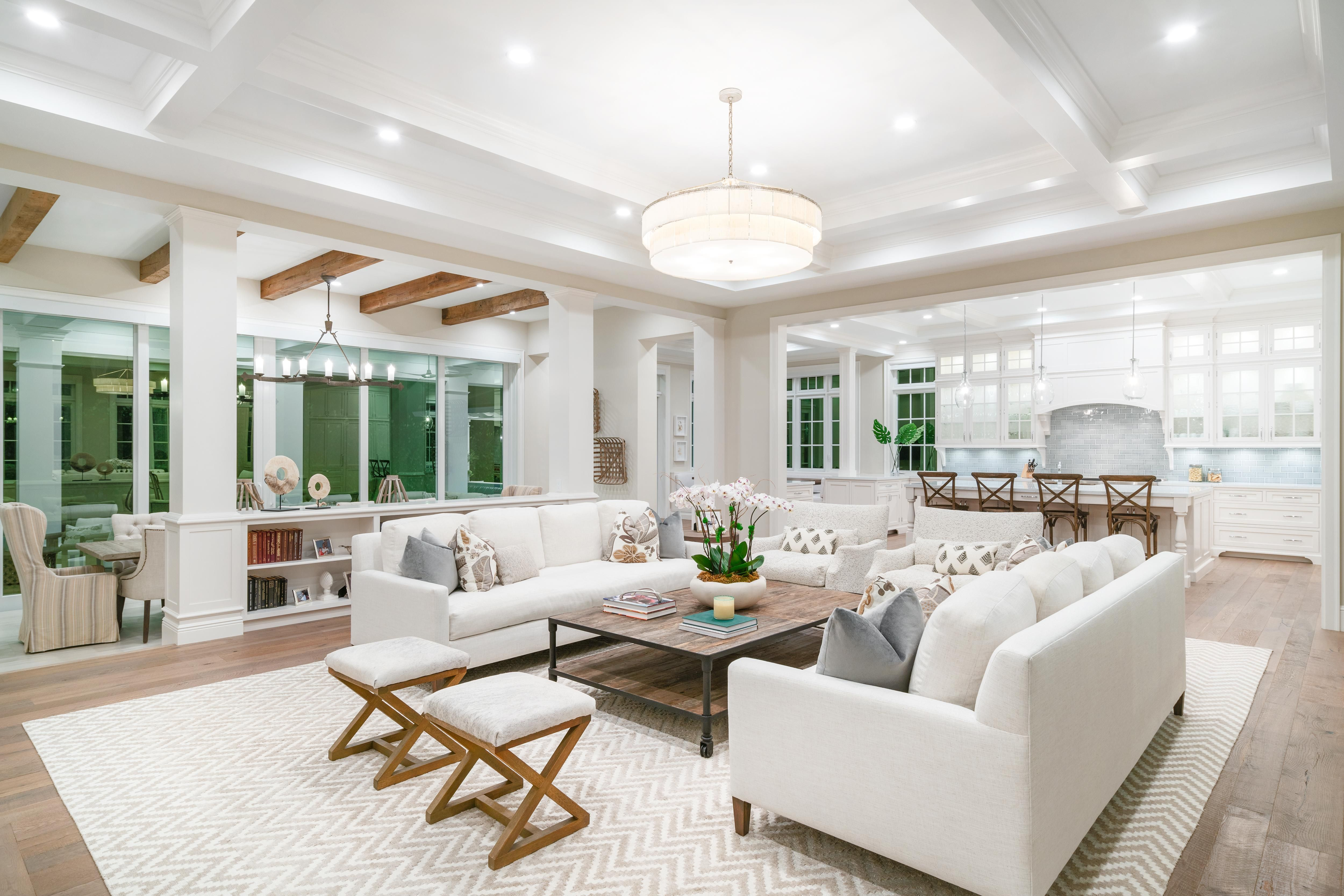 Open floor living room dining and kitchen in Delray Beach FL [5