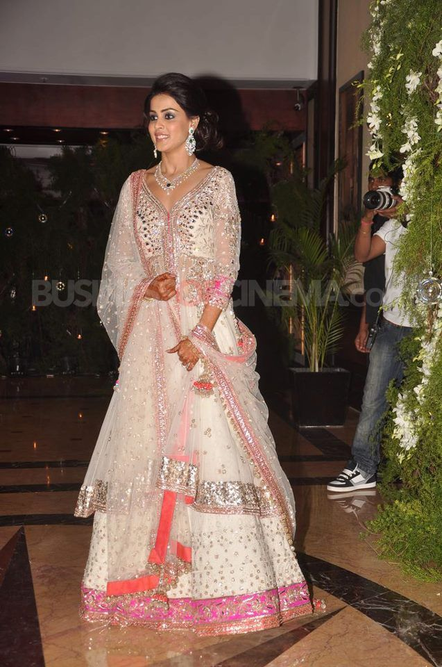 Genelia D'Souza's sangeet ceremony   Indian wedding dress ...