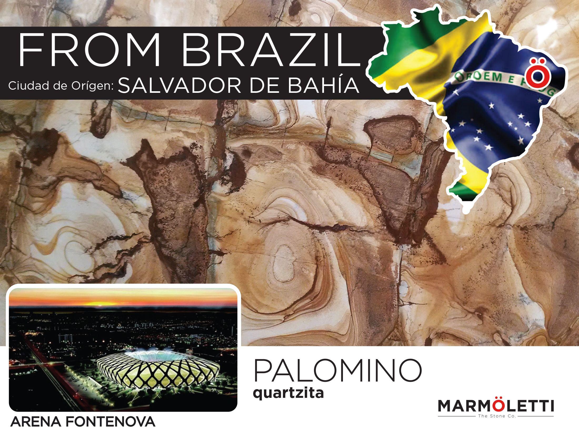 La historia plasmada en colores y formas, peculiar material con la durabilidad, versatilidad, y resistencia de una quartzita ofrece... Palomino de la costa este de Brasil.
