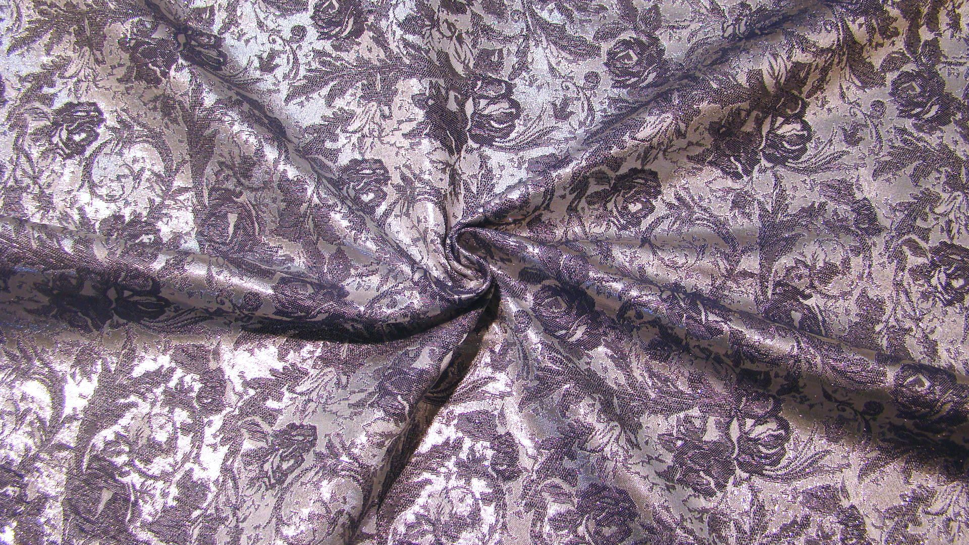 jacquard brokat silber und blau lurex stoff ideal f r rock. Black Bedroom Furniture Sets. Home Design Ideas