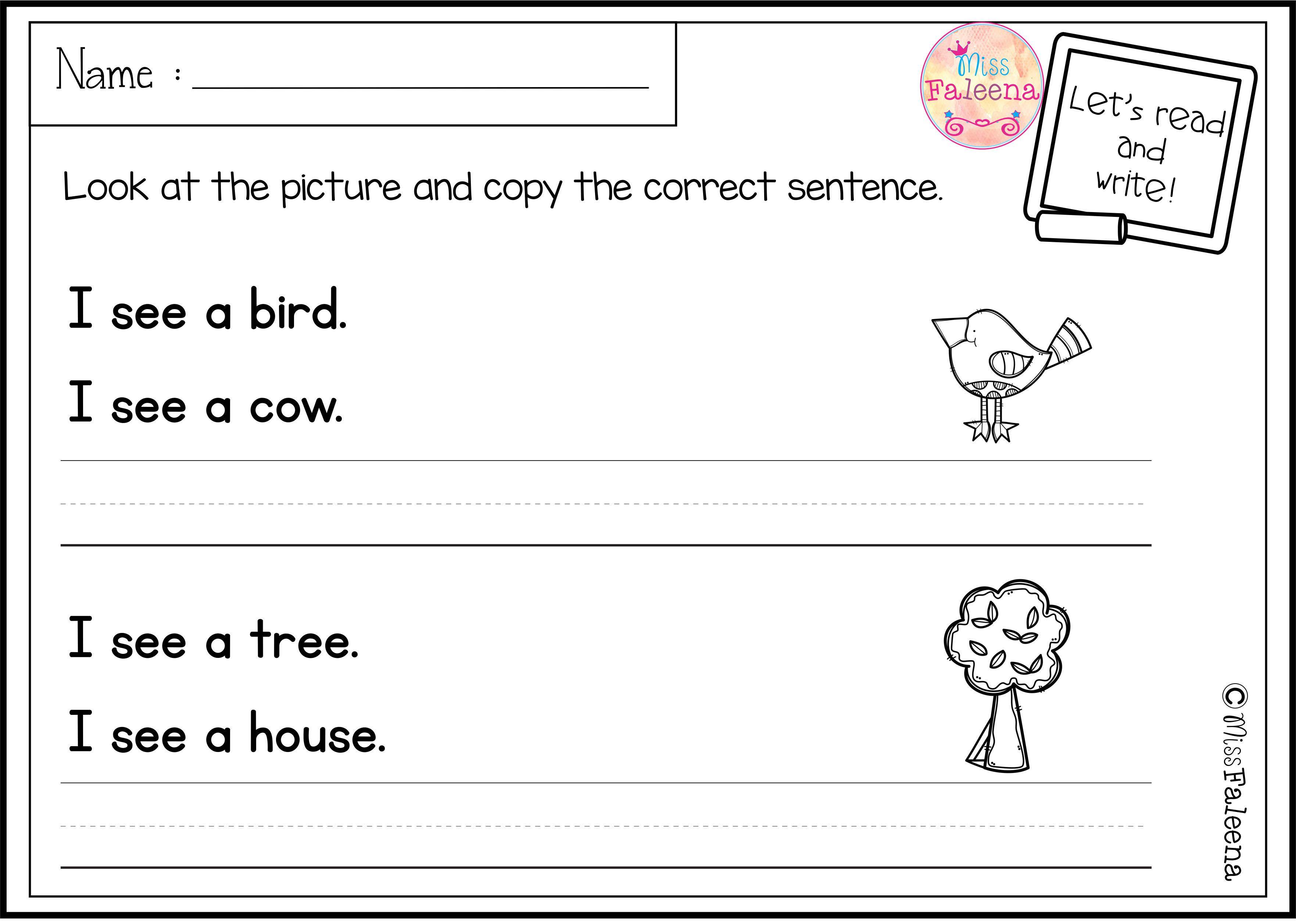 March Sentence Writing