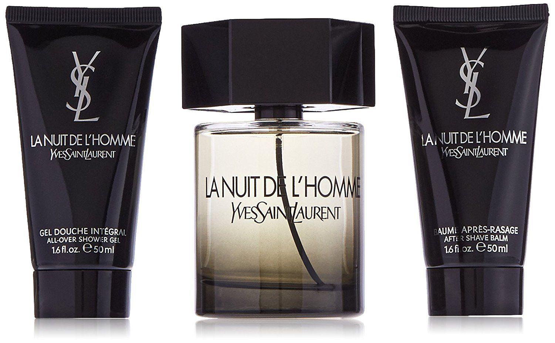 Yves Saint Laurent La Nuit De L'Homme for Men 3 Piece Gift ...