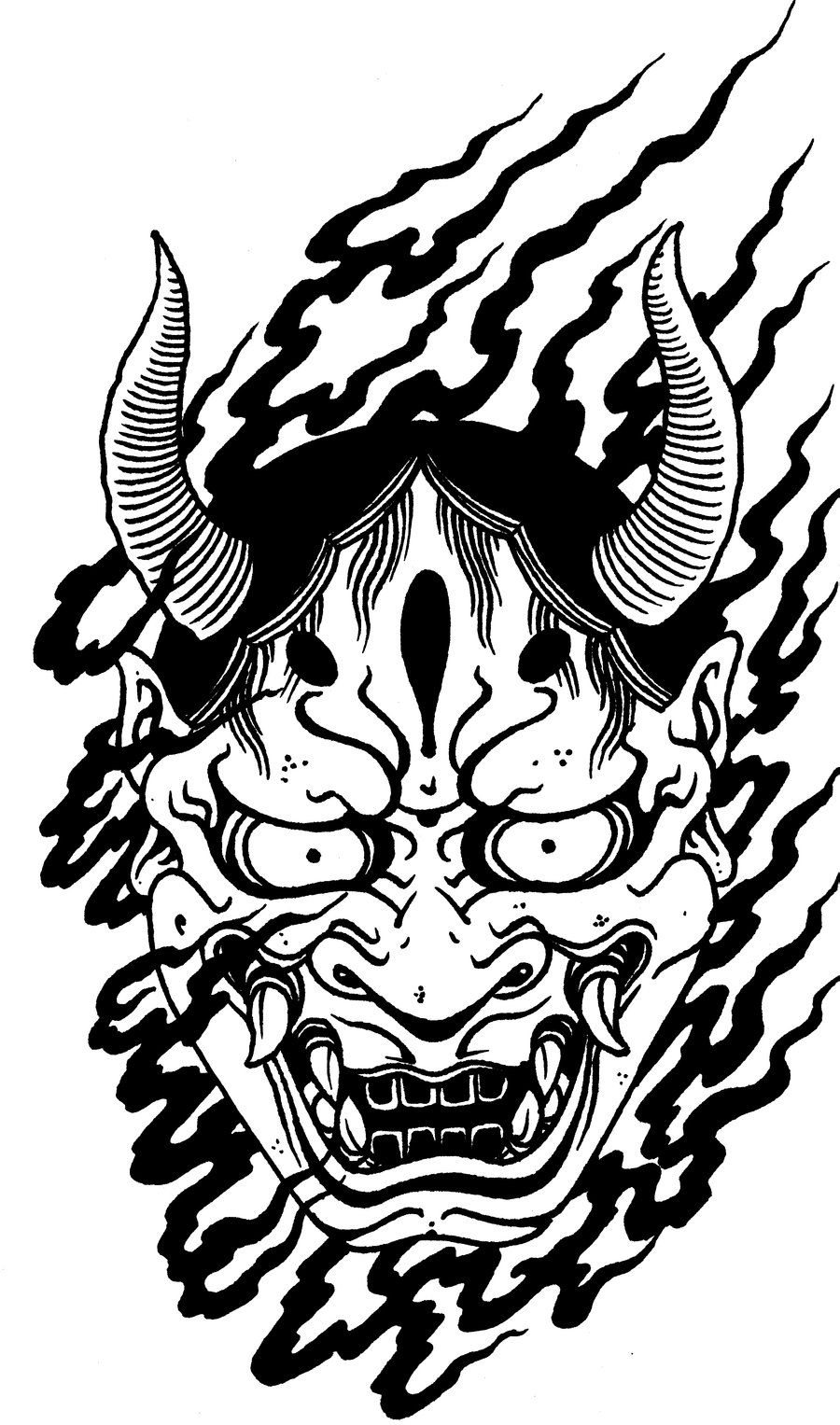 Samurai oni | Viewing Gallery For - Oni Mask Drawing ...