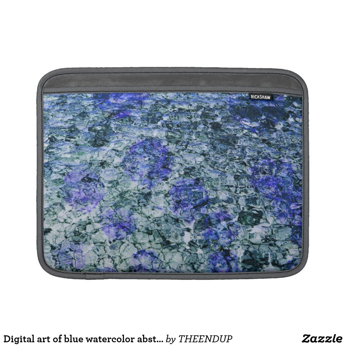 Digital Art Of Blue Watercolor Abstract Background MacBook