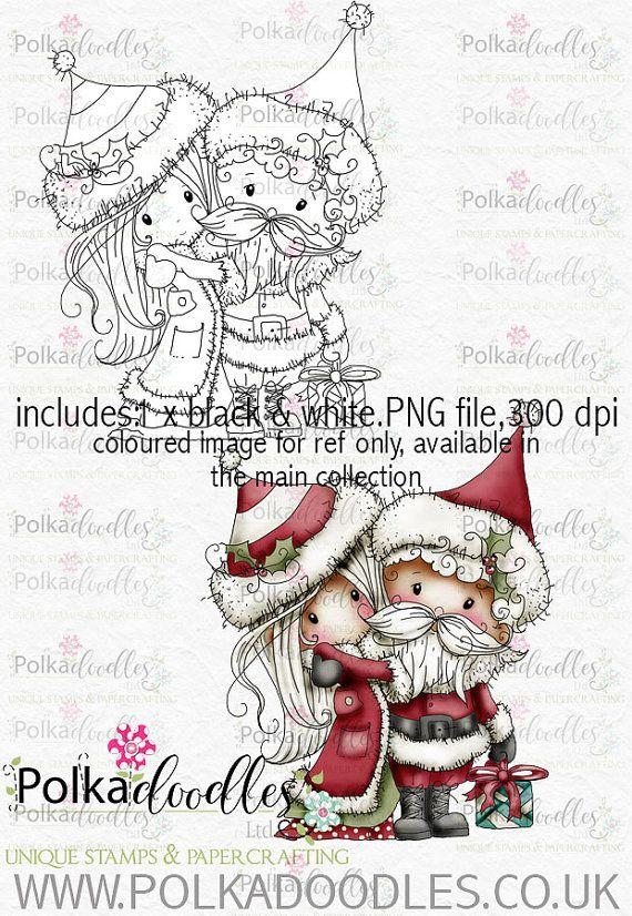 Winnie Winterland - Mr & Mrs Claus digital craft stamp download ...