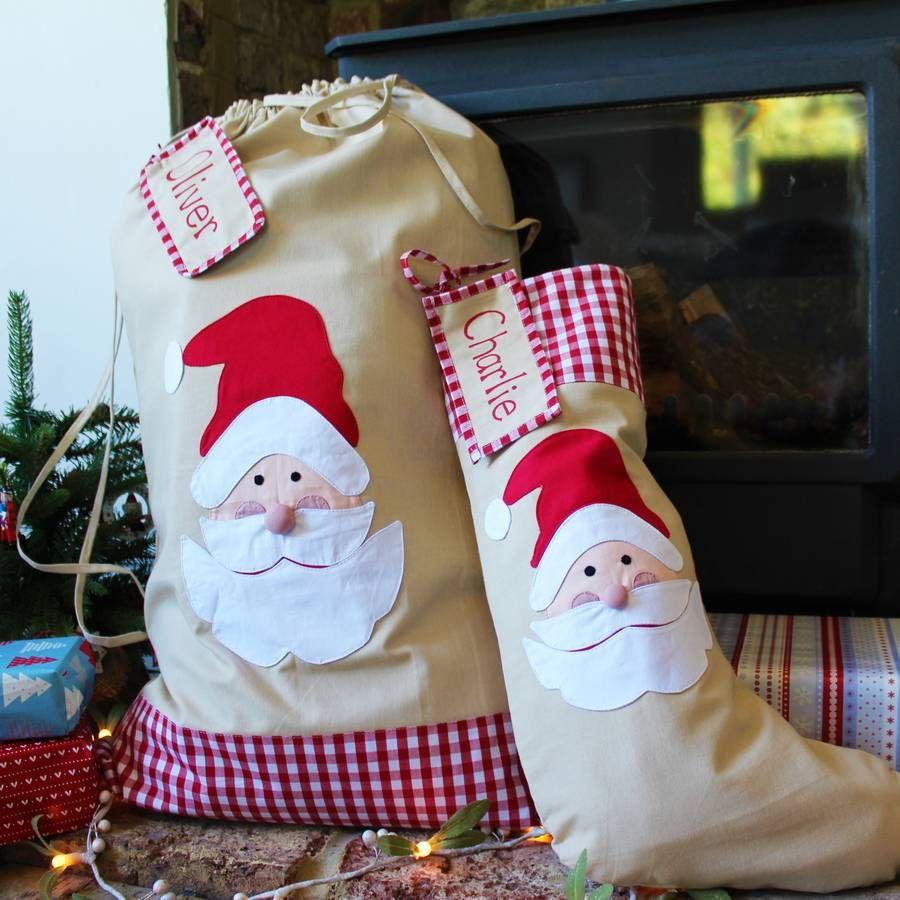 personalised christmas santa stockingsack extra large - Extra Large Christmas Stockings