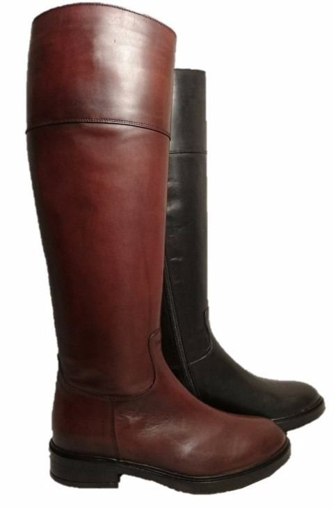 big sale 2762c 1465d Leather riding boots for ladies, by Progetto in 2019 | New ...