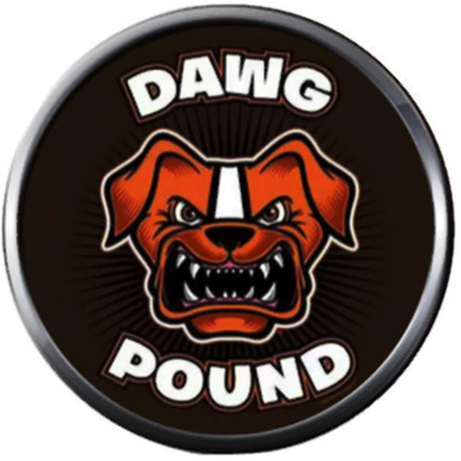 7ea8598e NFL Logo Cleveland Browns Dawg Pound in Brown Football Fan Team Spirit 18MM  - 20MM Fashion Jewelry Snap Charm