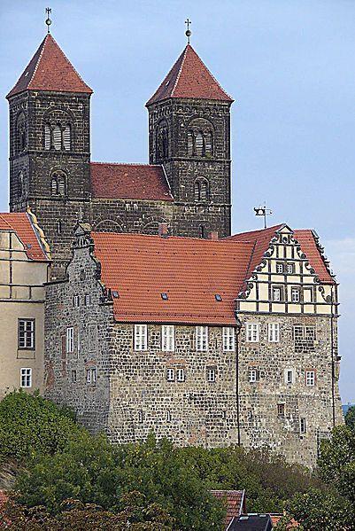 Quedlinburg Castle Berühmte architektur, Quedlinburg