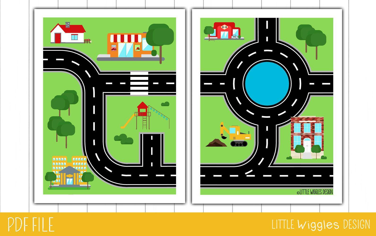 Printable Play Car Mat For Kids