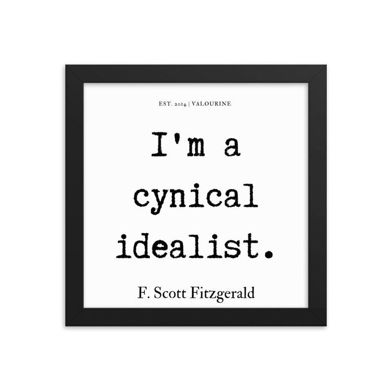 50  | Framed poster   | F.Scott Fitzgerald Quote | 191212 #philosophicalquotes