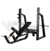 Olympic Bench Incline  Dimensions (L×W×H):     201cm × 178cm × 140cm   For more info visit: http://www.gymandfitness.com.au/diamond-series-olympic-bench-incline.html