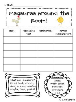 Here S A Recording Sheet For Measuring Items Around The Clroom In Non Standard Units