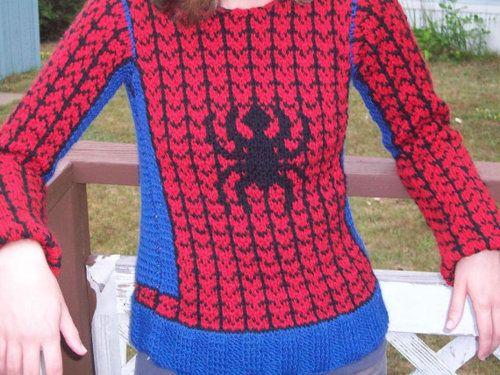 Home-made Spider-Man sweater??? | My Spider-Man | Pinterest
