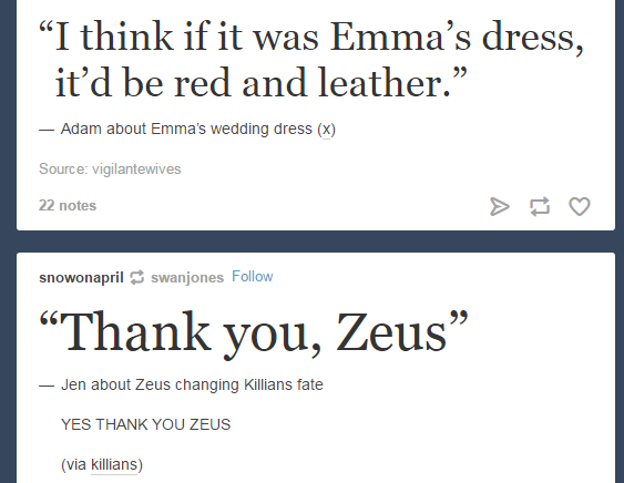 Adam abt the wedding dress and Jennifer thanking Zeus for Hook back - Once Panel at San Diego Comic Con 2016 - 23 July 2016