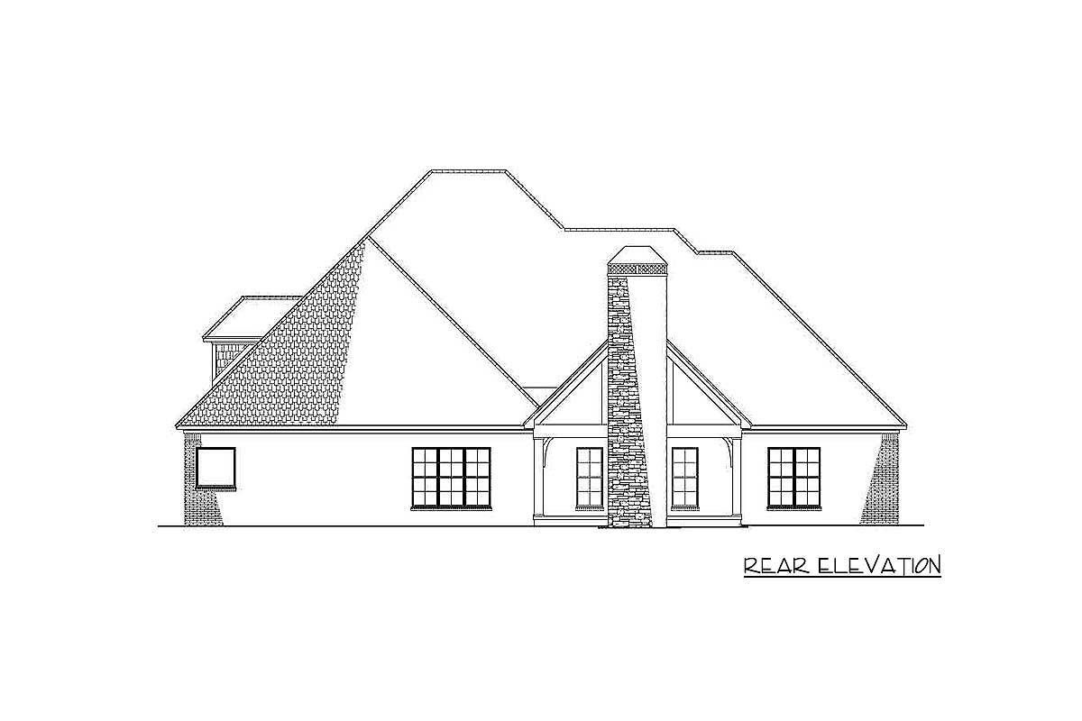 Plan 70577mk 4 Bed House Plan With Vaulted Great Room And Bonus Over Garage Great Rooms House Plans Open Space Living