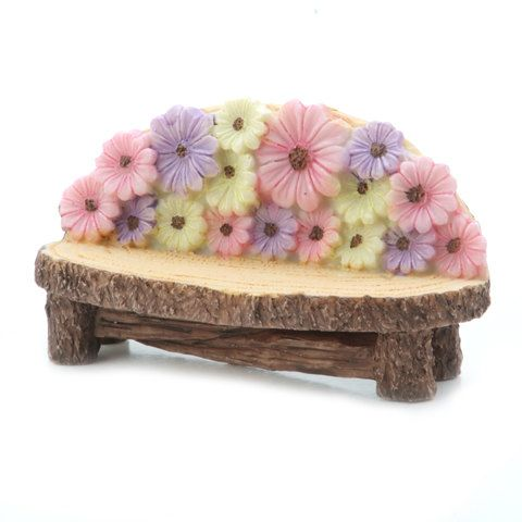 Yard and Fairy Garden Minis - Flower Bench - Resin - 4.4 x 1.75 inches  1613-231 by SunshineDiscount on Etsy