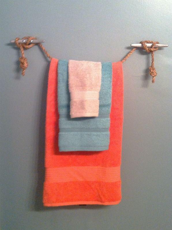 Diy Towel Rack Bathroom Creative
