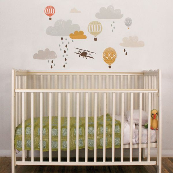 Up Up Away Fabric Wall Decals Wall Decals Fabrics And Walls - Nursery wall decalswall stickers for nurseries rosenberry rooms