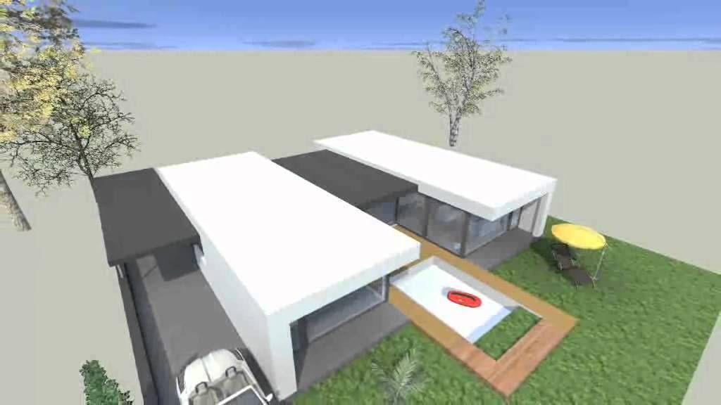 Moderne bungalow google zoeken bungalow pinterest for Bungalow u form