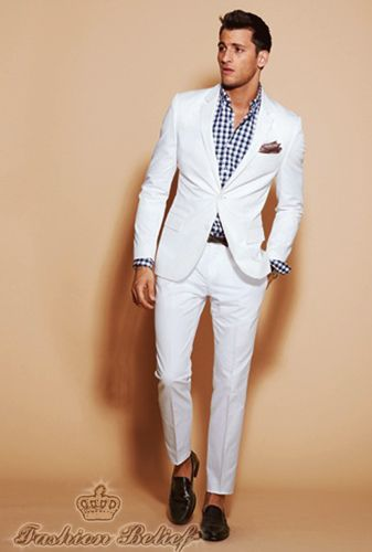 White wedding suit for men stylish sexy men Pinterest