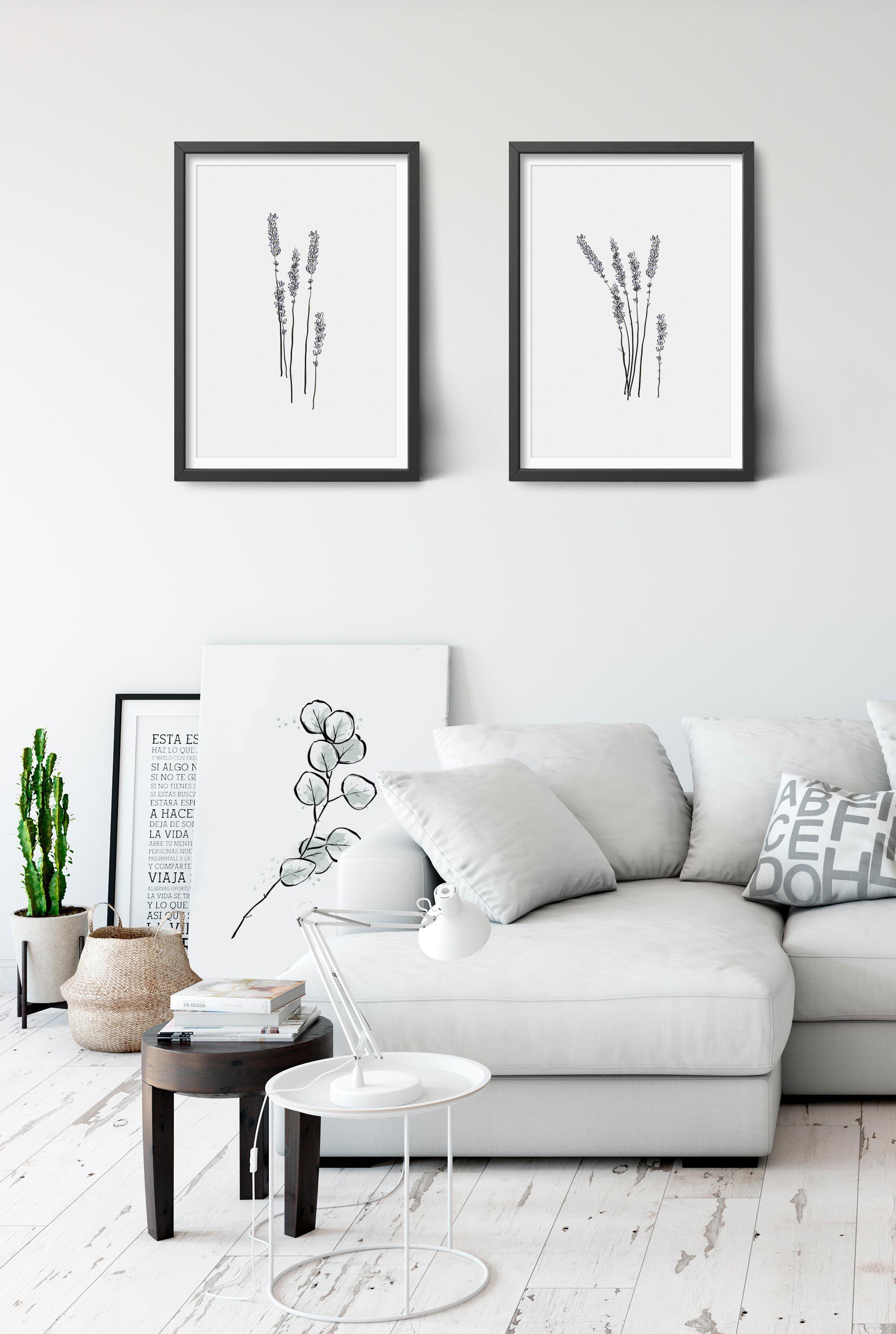 Lavender Printable Wall Art Modern And Contemporary Living Room Decor Pine Trees Studio Decoracion De Unas Sala #wall #art #contemporary #living #room