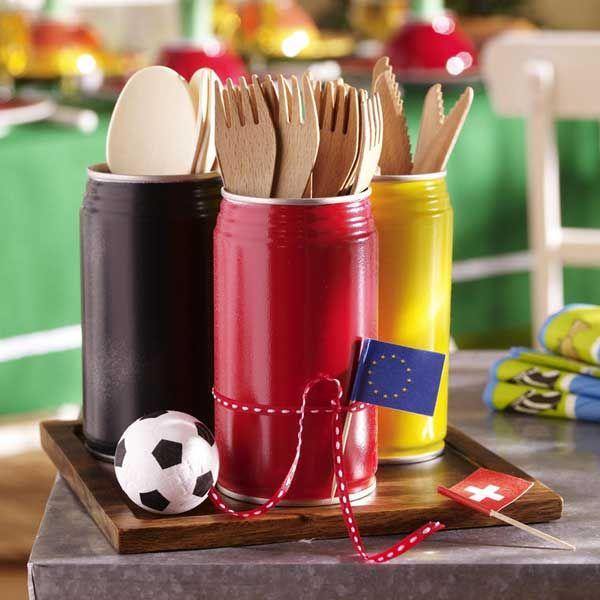 Party-Deko für den Fußball-Abend DIY Ideen zur EM Pinterest