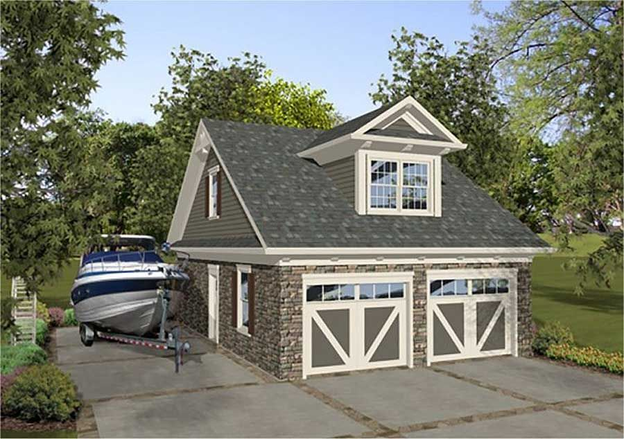 Plan 20130GA: Petite Carriage House Plan