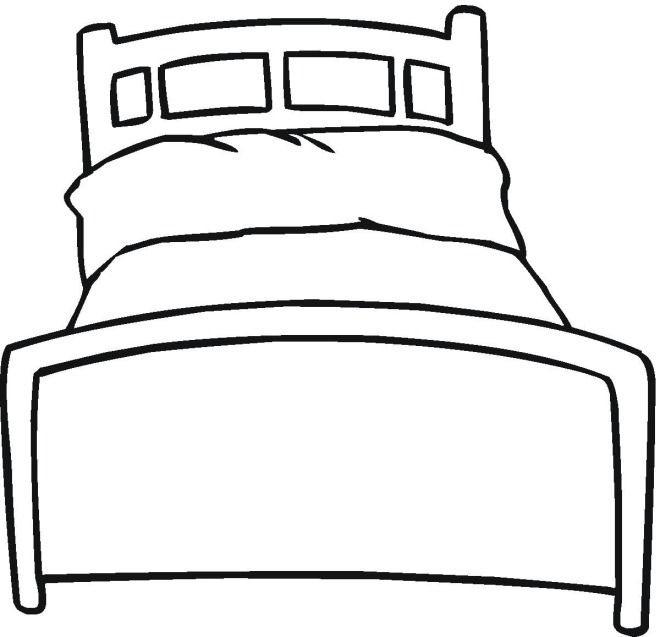 Bed 11 Quiet Book Patterns Paper Doll House Coloring Pages