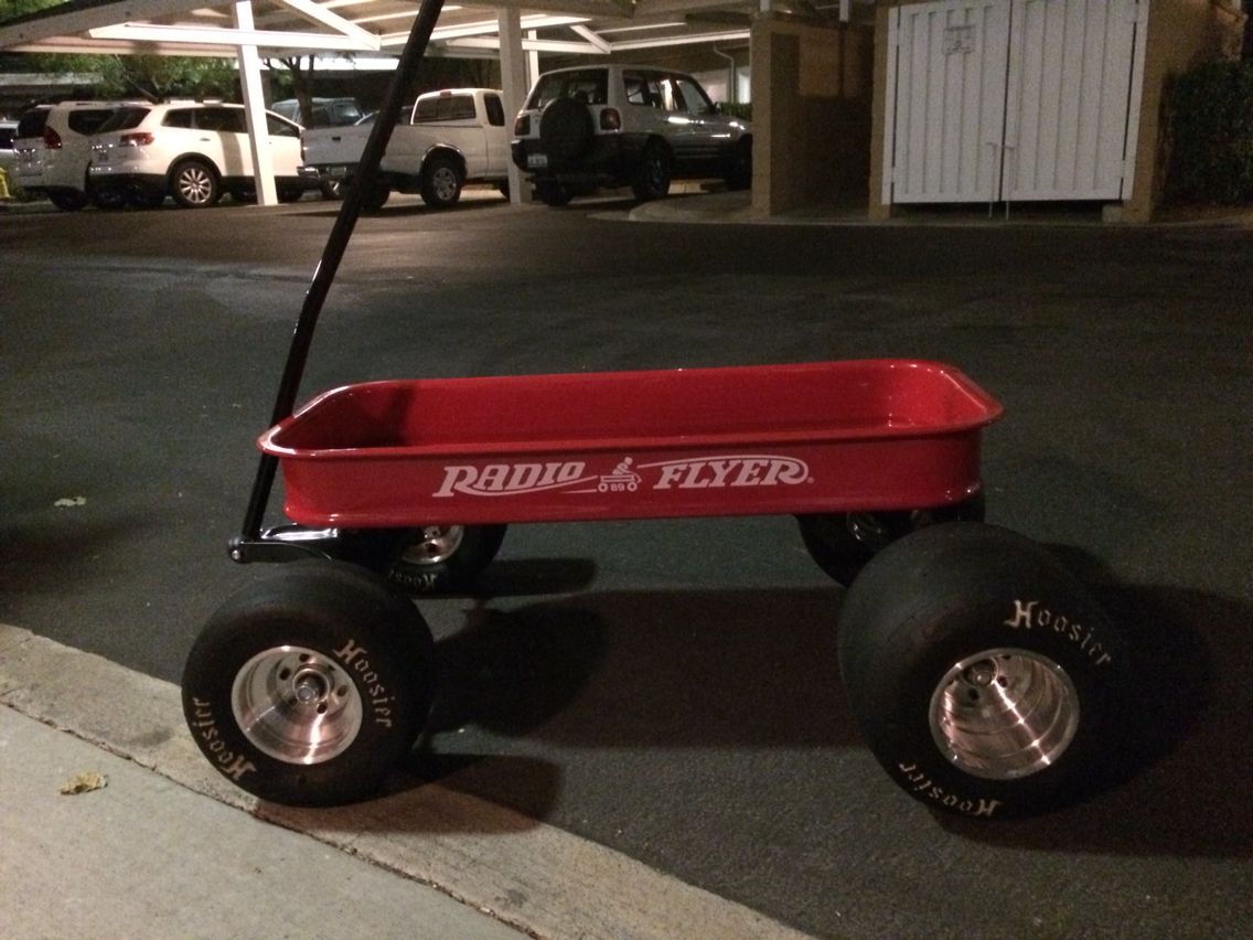 Go Kart Rims On Radio Flyer Wagon Custom Radio Flyer