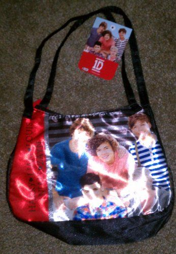 1befc0d3287c 1D One Direction Black Satin Bag Purse Harry Liam Louis Niall Zayn- Price    14.95