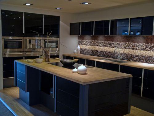 cocina-con-muebles-oscuros | COCINAS, REPOSTEROS | Pinterest | Fotos ...