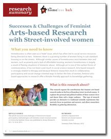 Successes  challenges of feminist arts based research with street involved women homeless also best social science images on pinterest rh