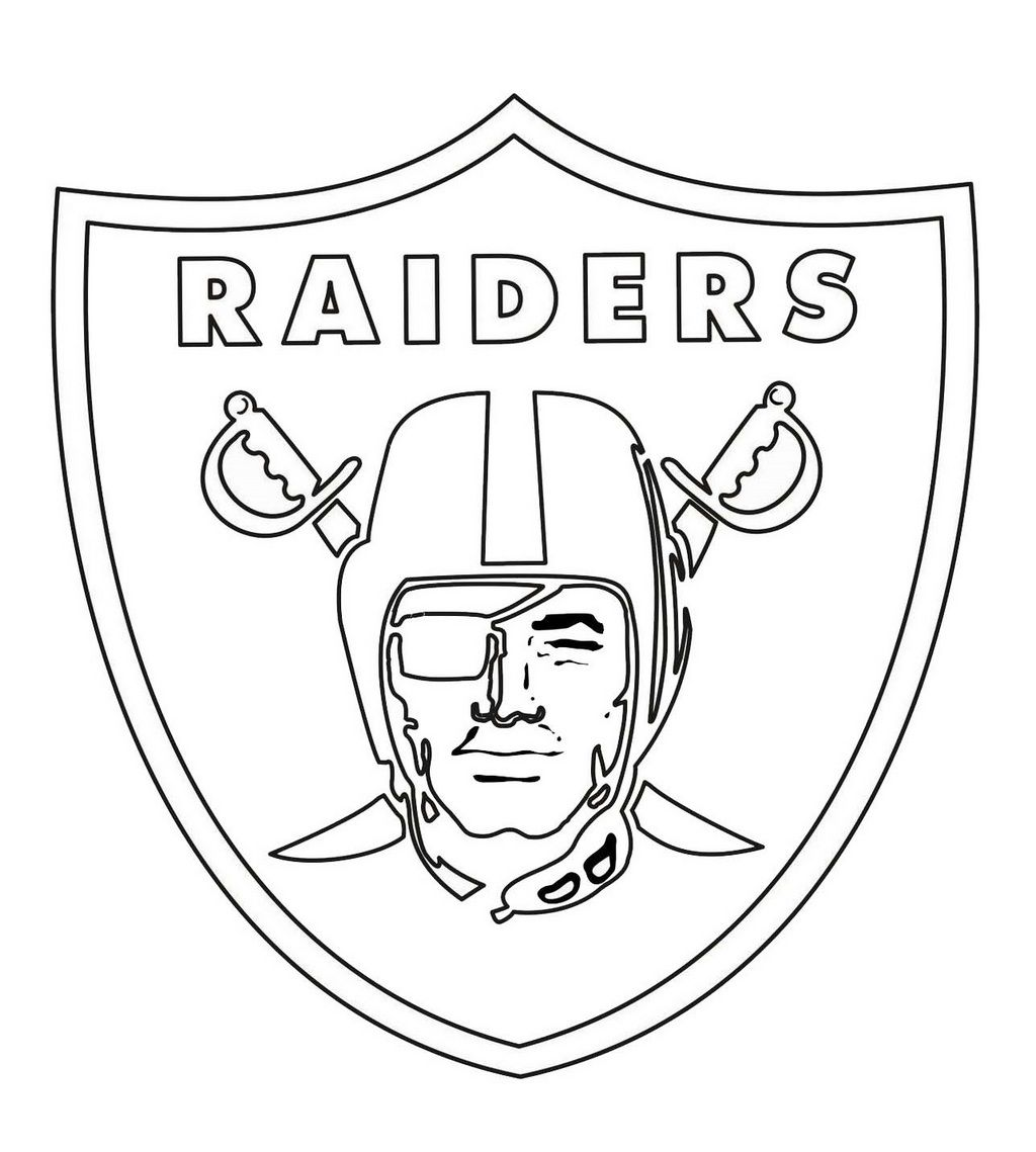oakland raiders from NFL Coloring Sheet   Coloring Pages For ...