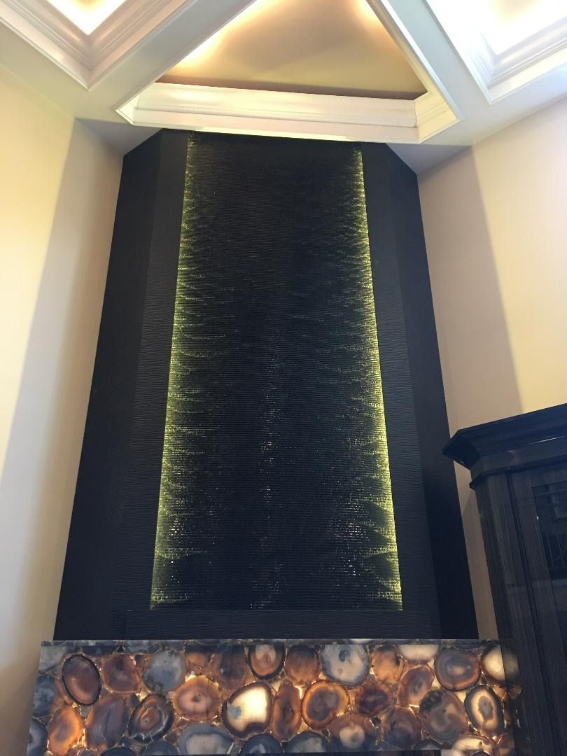 wave water features on ripple wave water wall with fireplace water walls water feature wall wall gallery pinterest