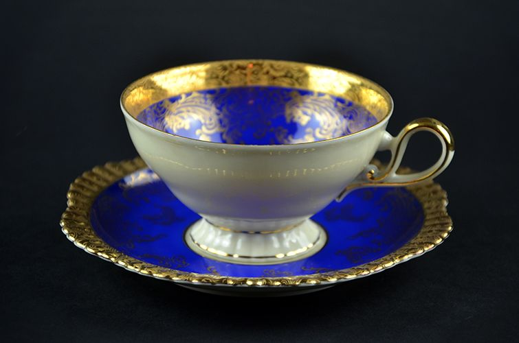 German Bavaria Porcelain Fine China Cup u0026 Saucer and Plate Gold Gilding Made in German & German Bavaria Porcelain Fine China Cup u0026 Saucer and Plate Gold ...
