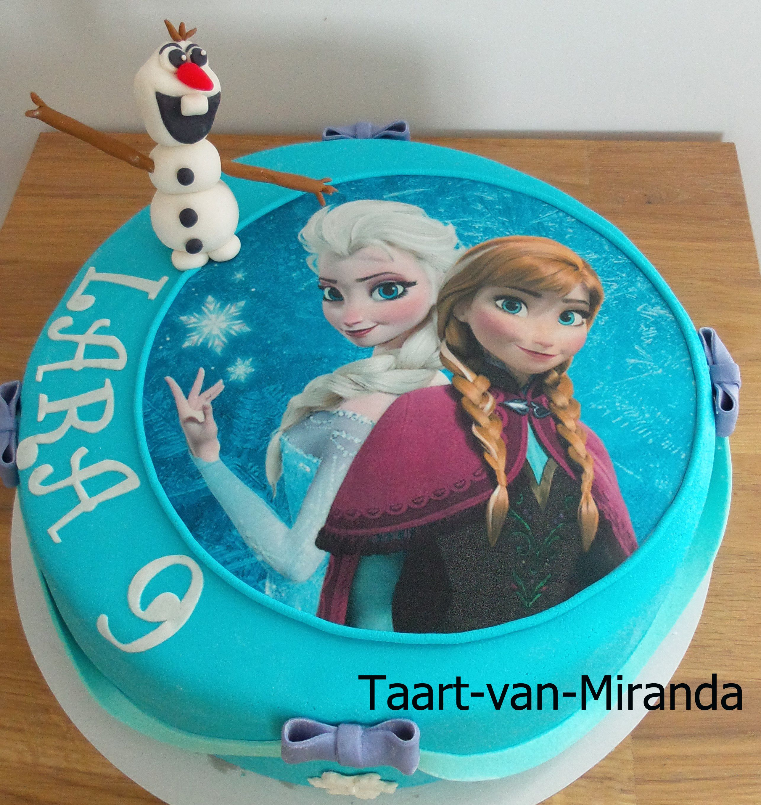Frozen Cake Olaf Anna Elsa Taart Ideeen Taart Kindertaarten